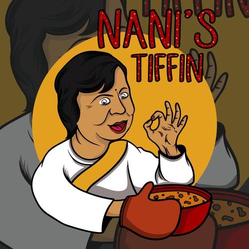 illustration design for Nani's Tiffin