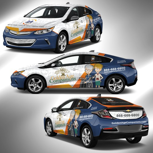 Design a Creative Fun Full Body Vehicle Wrap for Elderly Care Agency