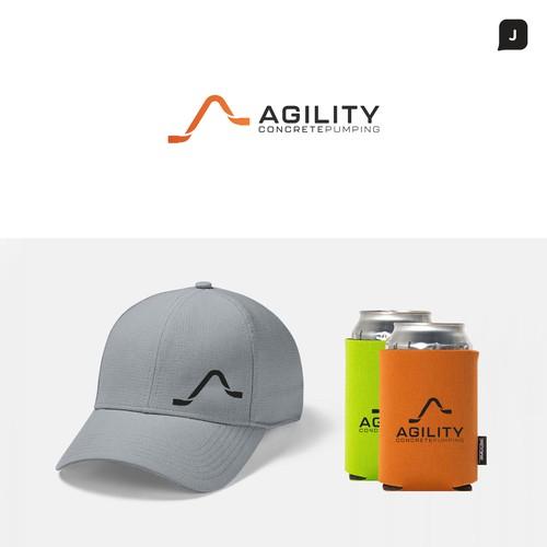 Bold Logo Concept for Agility Concrete Pumping