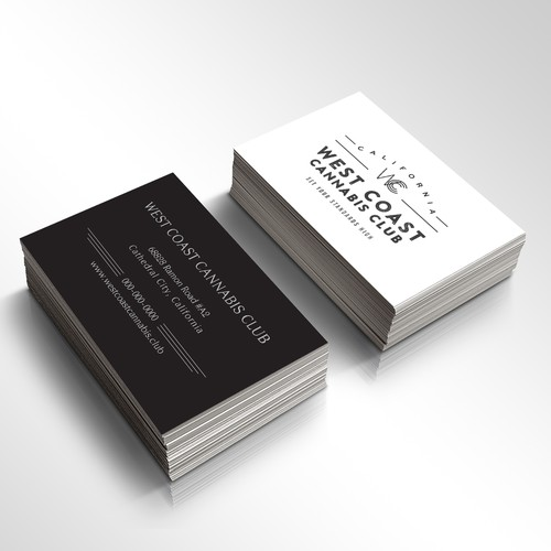 business card design for retail company