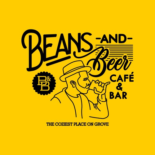 a design for Beans and Beer, a f&b company