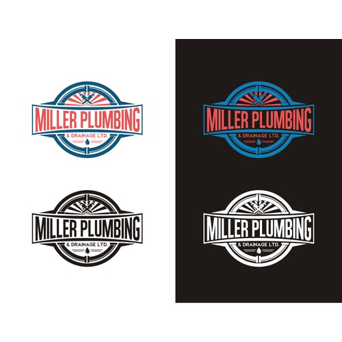 Fresh look, vintage/classic style plumbing company logo