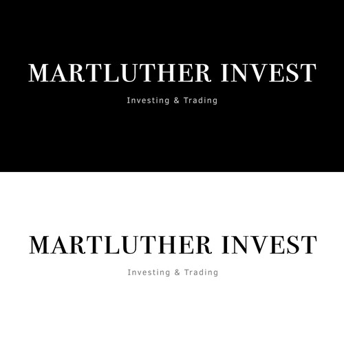 """Martluther Invest"" logo design"