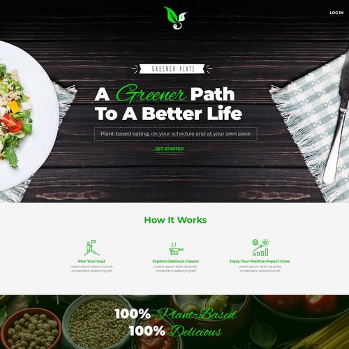 Creative Healthy Recipes and Schedule Website Design