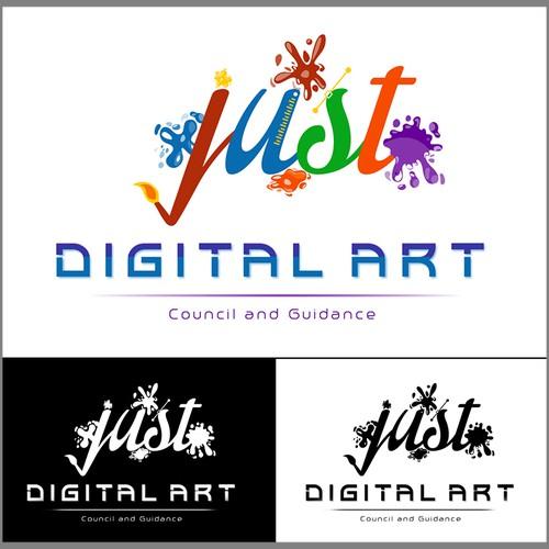 Digital art logo