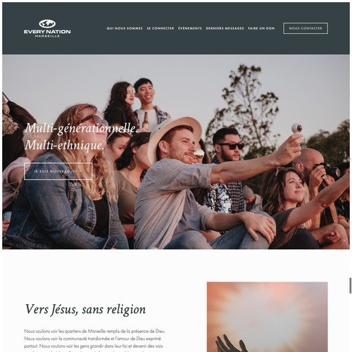 Squarespace Website for Marseille-Based Community Church