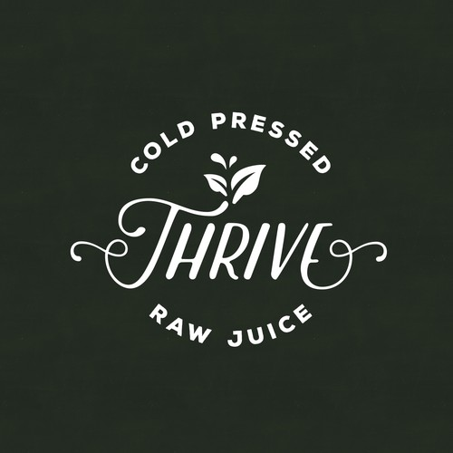 Thrive-Logo concept for raw juice