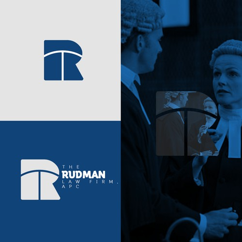 MINIMAL LOGO DESIGN FOR RUDNAN LAW FIRM