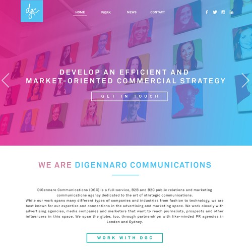 comms agency website design