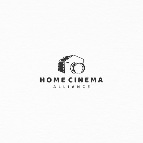 logo design home cinema alliance.