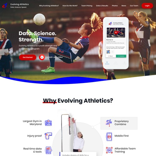 Evolving Athletics Gym Website