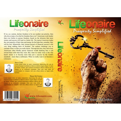 Create a book cover for Lifeonaire: Prosperity Simplified About living life to the fullest, abundantly with joy and fre