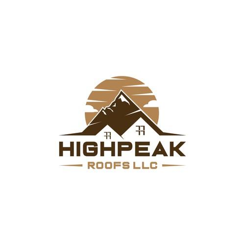 Logo Design for HIGHPEAK ROOFS LLC