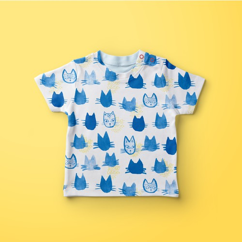 Baby textile pattern