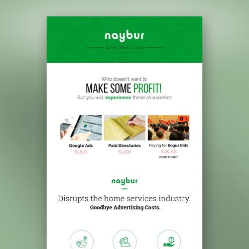NayBur.com Email Newsletter Design