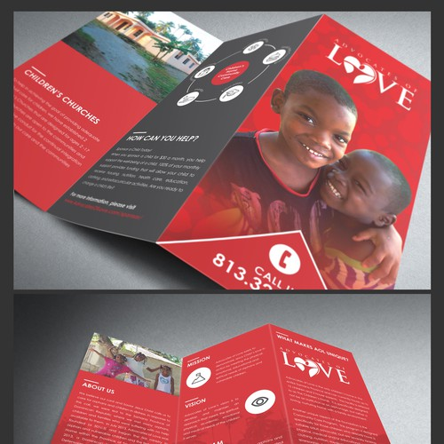 3 Fold Flyer Design for Advocate of Love