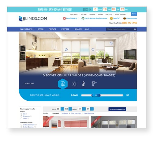 Interactive Concept for Blinds.com
