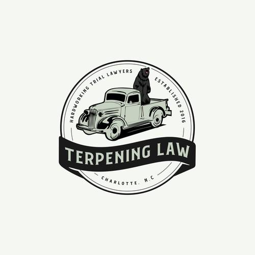 Vintage Badge Logo foro Terpening Law