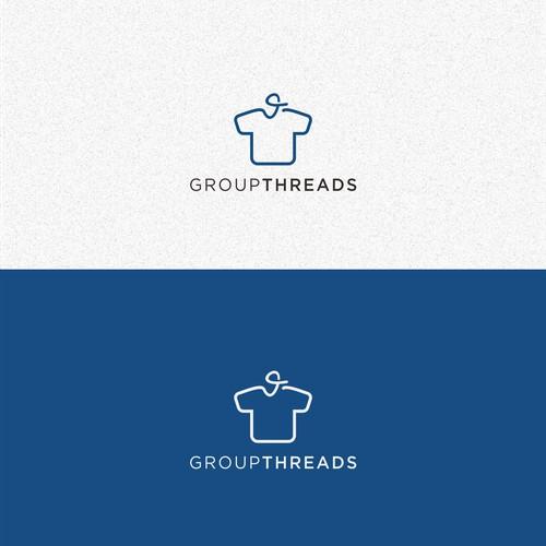 GroupThreads Logo Design