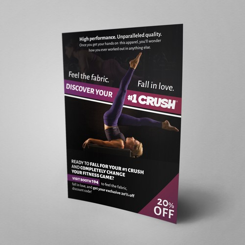 Flyer concept for fitness apparel