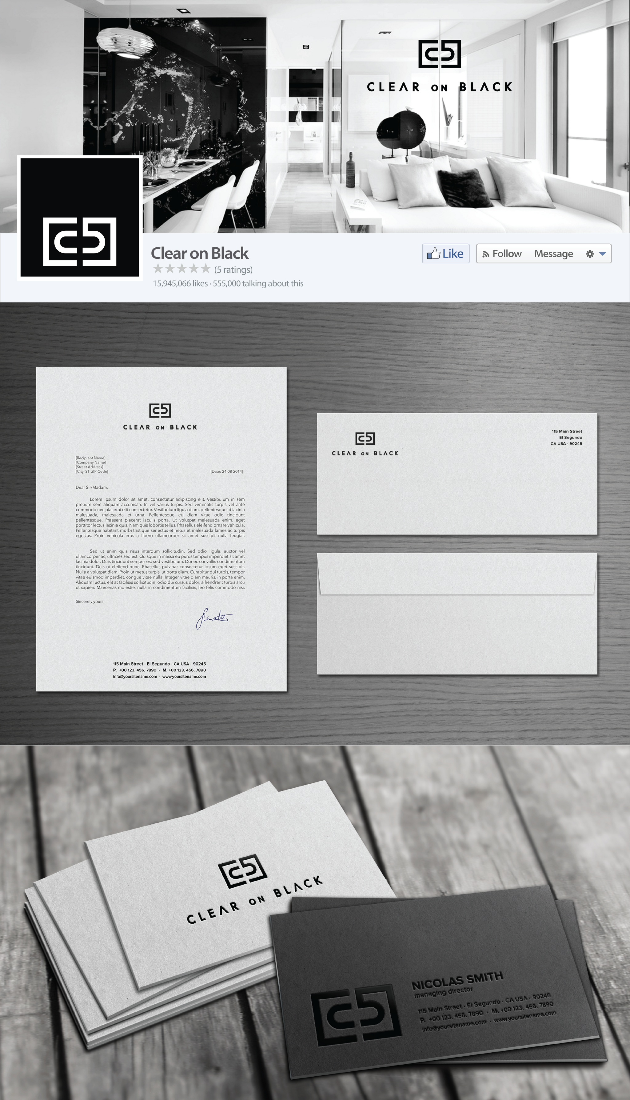 Brand Identity Package for an international hospitality design firm (logo already provided)