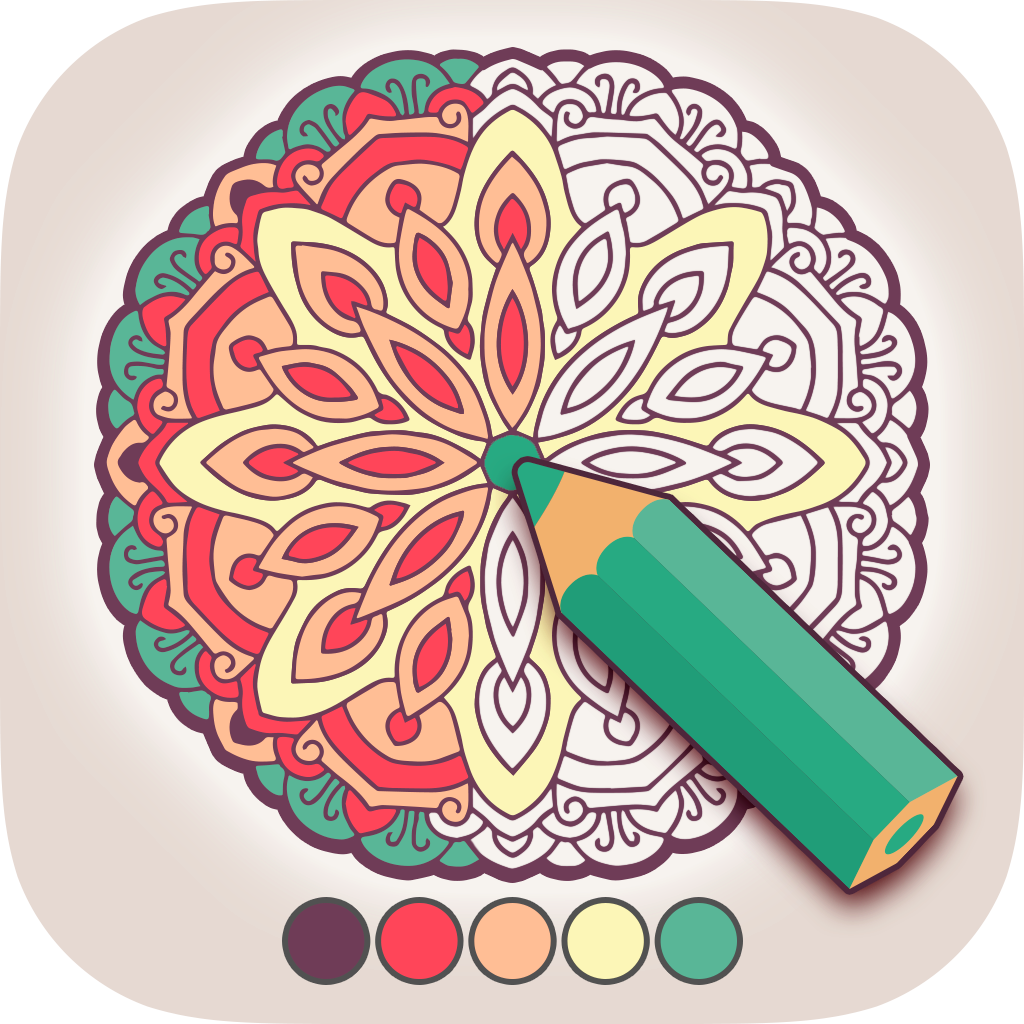 New Icon for Coloring Book for Adults iPhone/Android app!