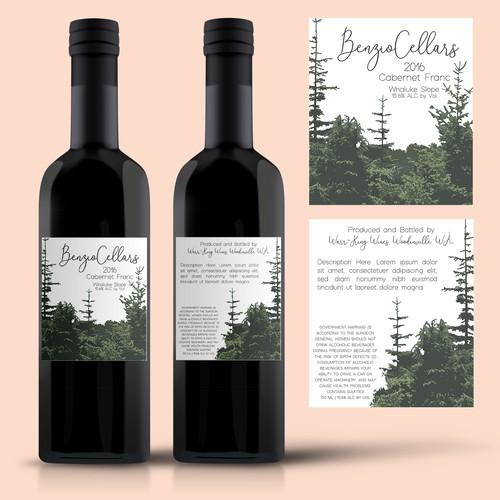 Label Design Concept for Wine