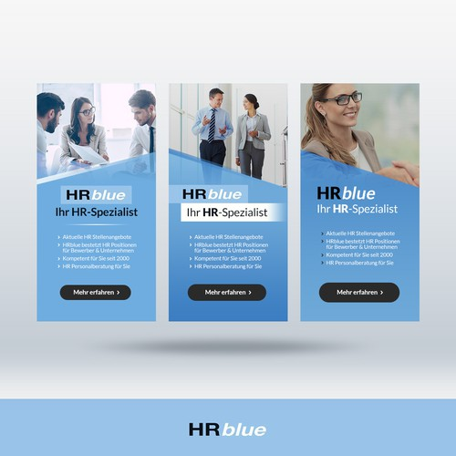Banner ad concepts for HR management platform