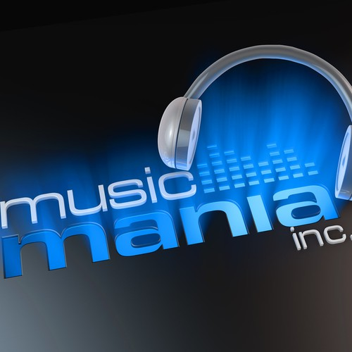 Music Mania 3D logo design