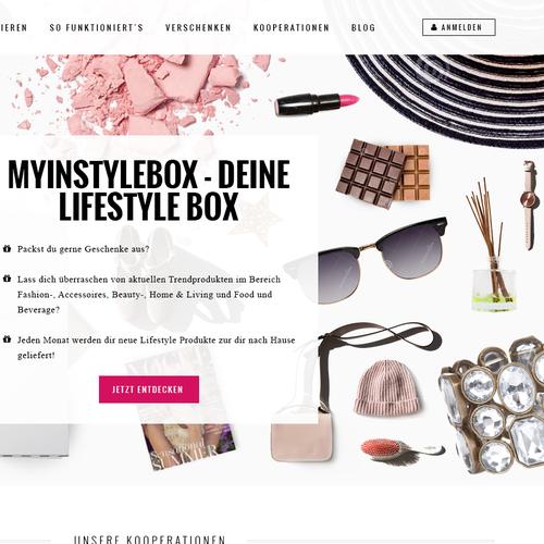 Stunning new website design for lifestyle box