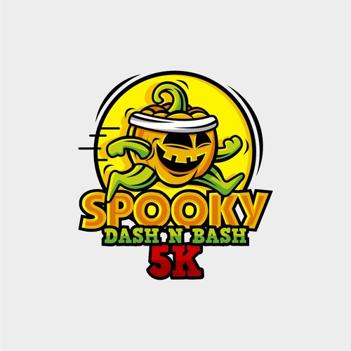 Illustrative logo for running event