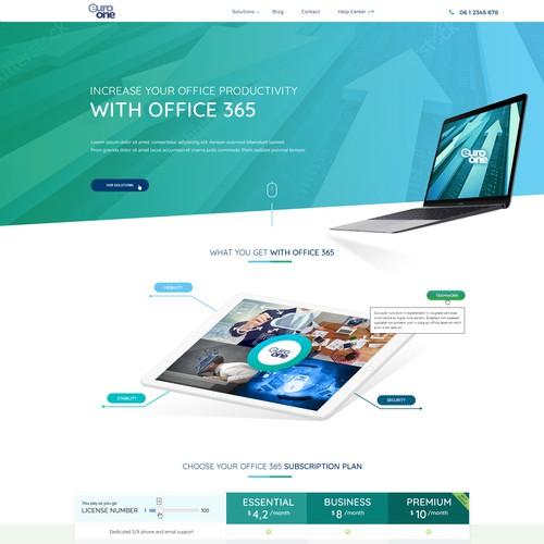 Microsoft Cloud services provider site design