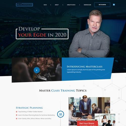 Web page design for FinTech speaker