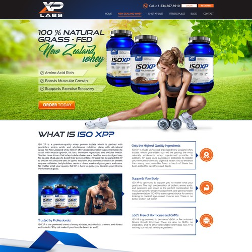 Health & Fitness Landing Page Design