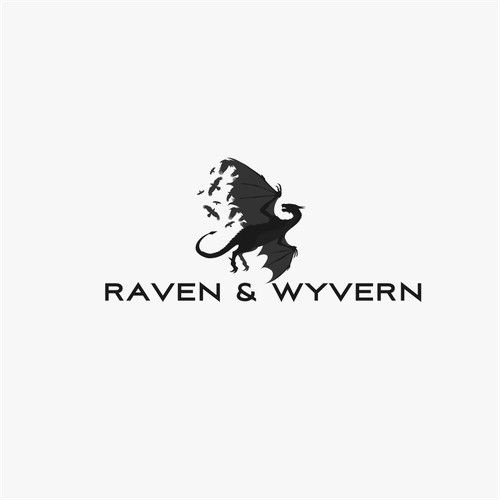 Creative logo for raven & wyvern