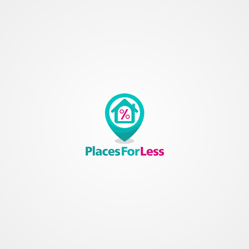 places for less logo design.
