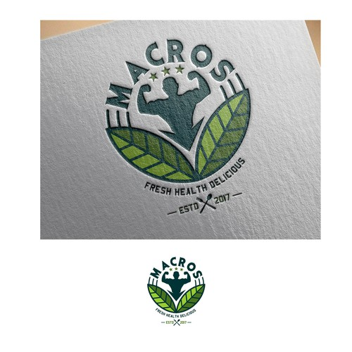 macros restaurant logo design
