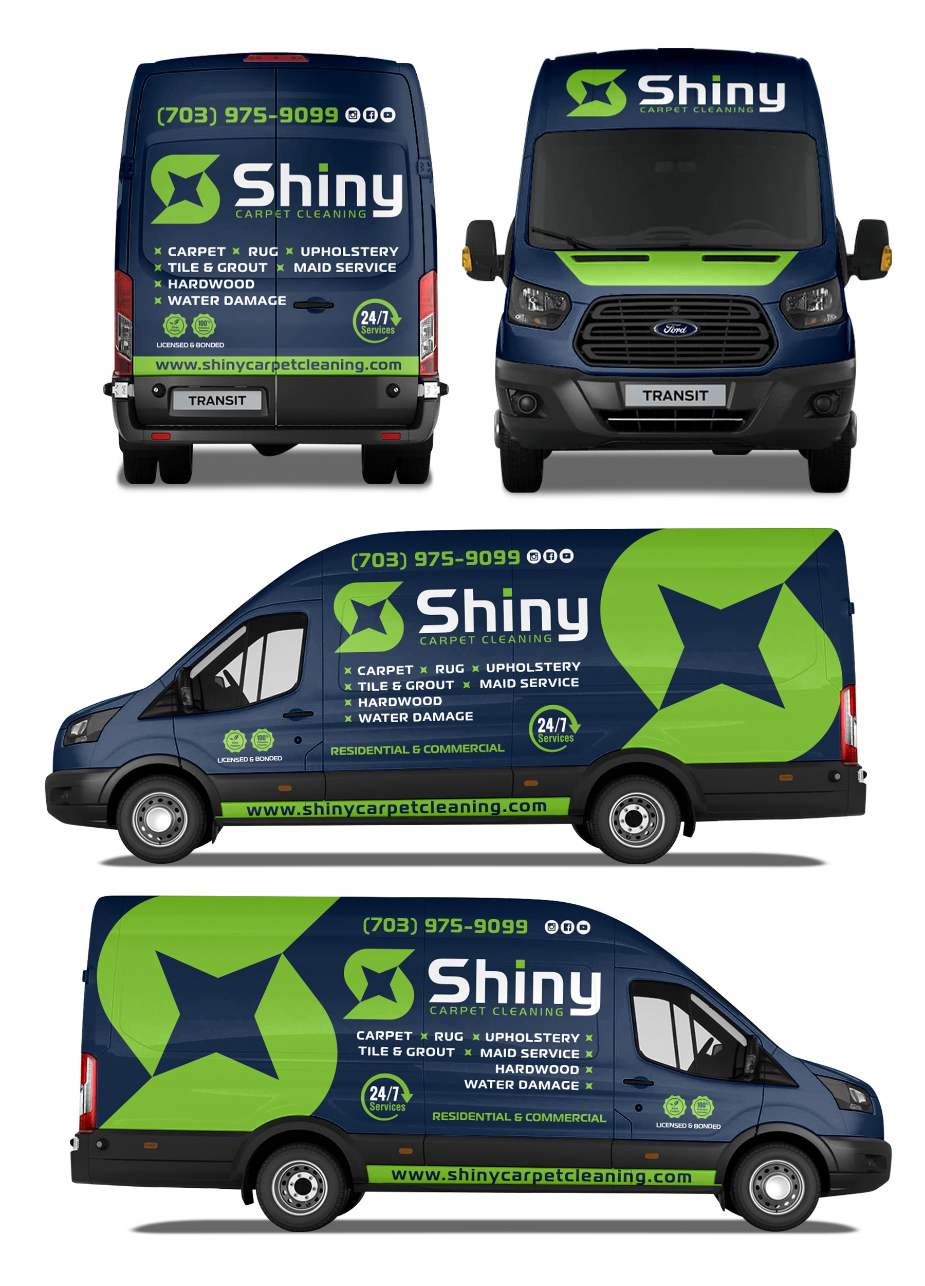 Commercial Truck/Van Wrap Design - Cleaning Company