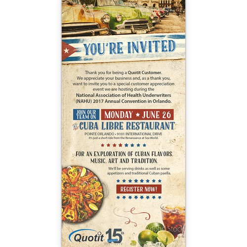 Cuban Themed Email Marketing Campaign