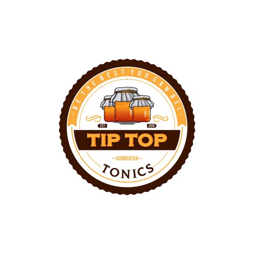 Tip Top Tonics Logo and Brand Identity Design