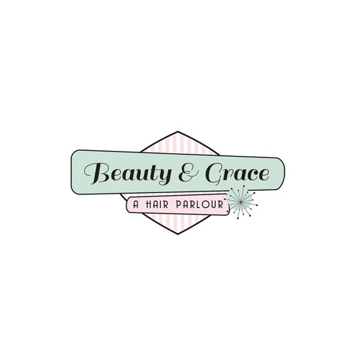 Logo for a vintage, classic local salon