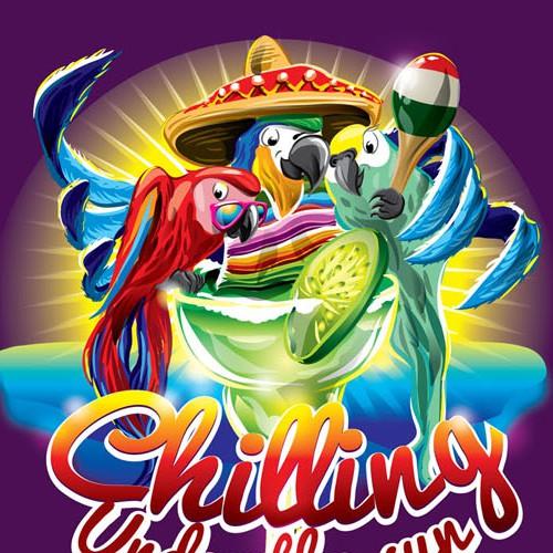 Cinco de Mayo Margarita drinking birds