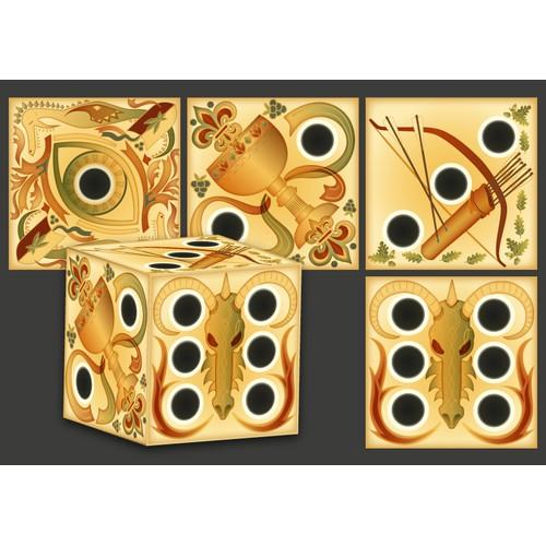 Fantasy dice design