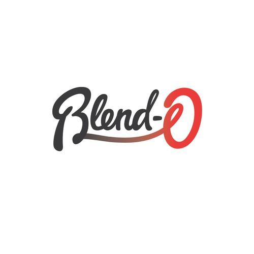Blend-O Lettering logo