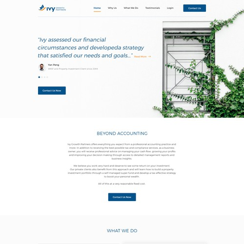Website Design For Professional Accounting Practice