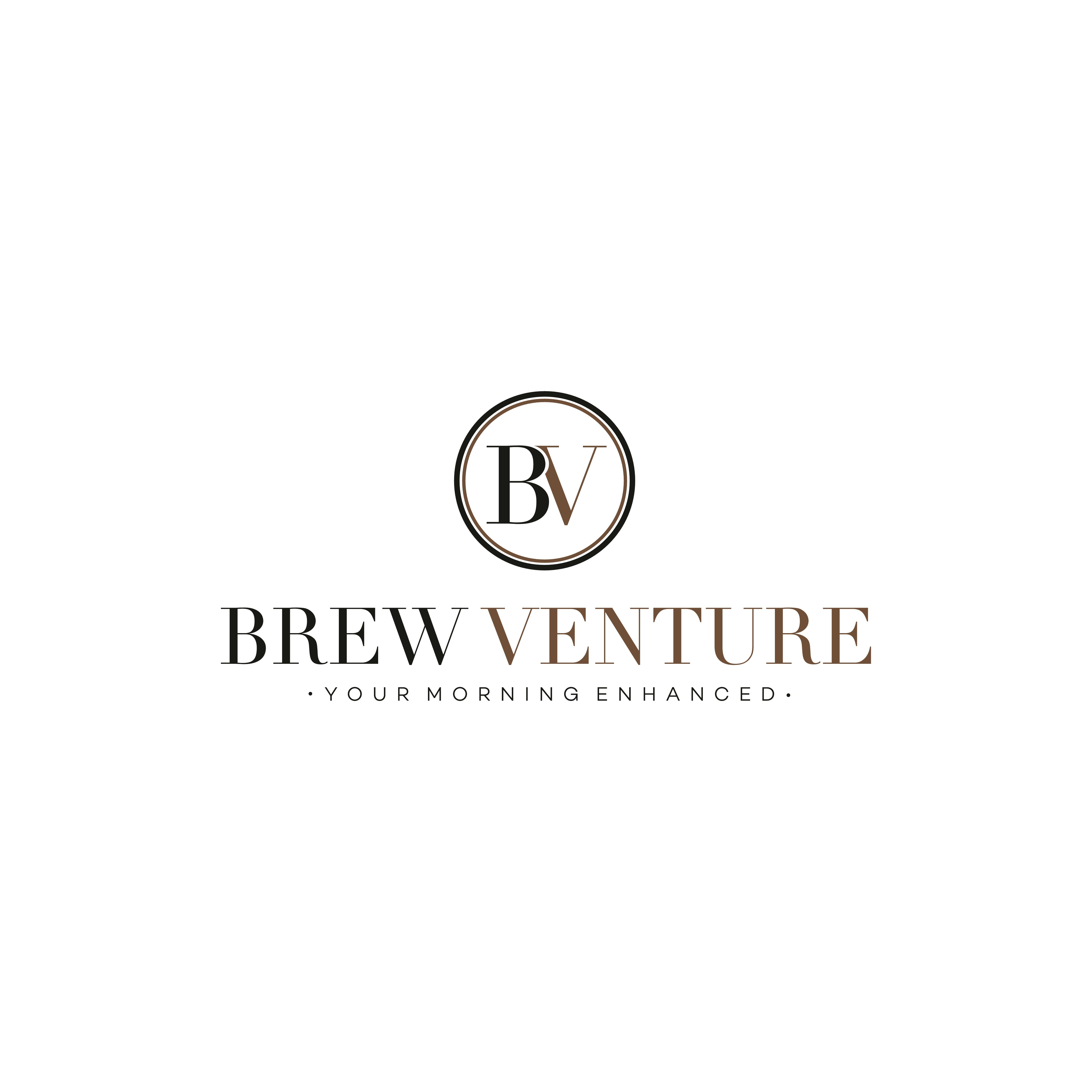 Create a sleek and inspiring logo for coffee subscription/lifestyle company Brew Venture