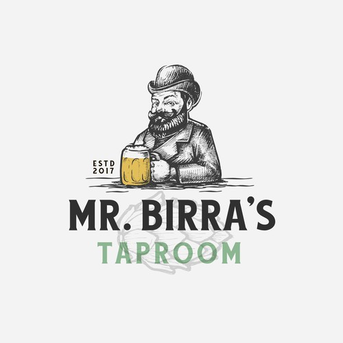 Strong logo concept for Mr. Birra's taproom