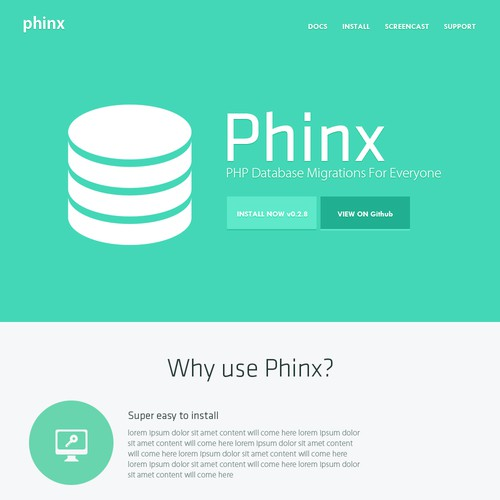 Phinx needs a new landing page