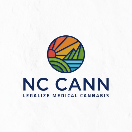 Modern Colorfull Logo dessign for North Carolina cannabis company