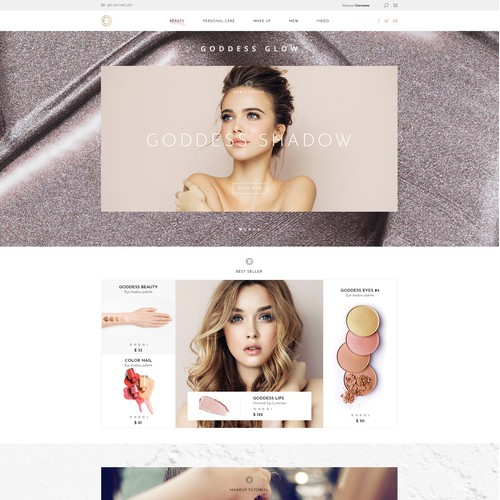 Beauty makeup website design